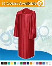 Shiny Red Middle School Gown